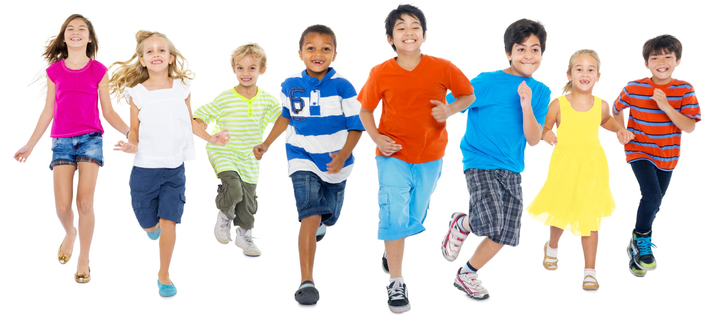 Kids Playing Running Birthday